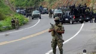 Militares en Michoacán, México