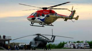 केदारनाथ में हेलीकॉप्टर गिरा