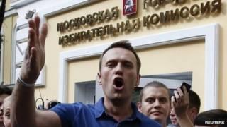 آلکسی ناوالنی، یکی از رهبران مخالفان دولت روسیه