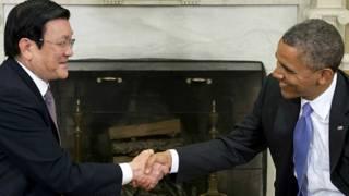 Chủ tịch VN Trương Tấn Sang và Ngoại trưởng Mỹ John Kerry