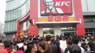 Restaurante de comida rápida KFC en China