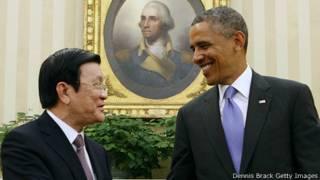 Ông Trương Tấn Sang thăm Mỹ