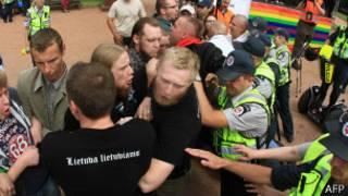 Protesta en Lituania