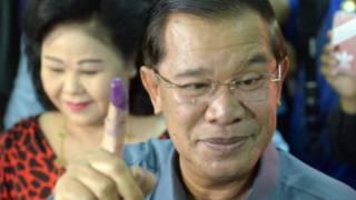 Thủ tướng Hun Sen và phu nhân đi bỏ phiếu hôm 28/7
