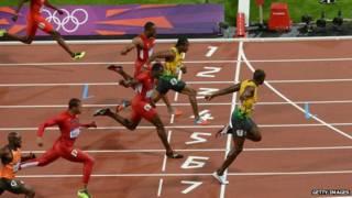 Bolt en las Olimpíadas de 2012