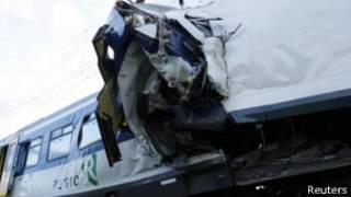 Choque de tren en Suiza
