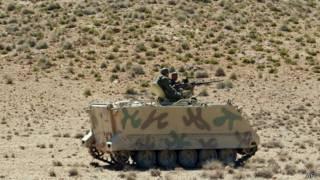 دورية عسكرية تونسية في جبل الشعانبي