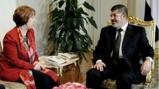 Мохаммед Мурси и Кэтрин Эштон