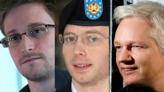 Edward Snowden, Bradley Manning, Julian Assange