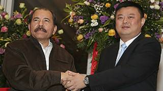 Daniel Ortega y el presidente de HKND, Wang Jing.