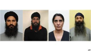 मनदीप सिंह संधू, दिलबाग सिंह, हरजीत कौर और बरजिंदर सिंह सांगा
