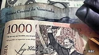 Pesos, bolívares y dólares