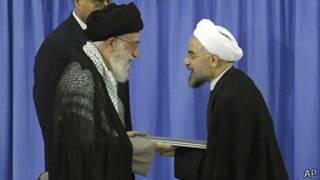 Аятолла Хаменеи и Роухани