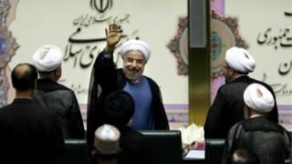 ईरान के नवनिर्वाचित राष्ट्रपति हसन रूहानी