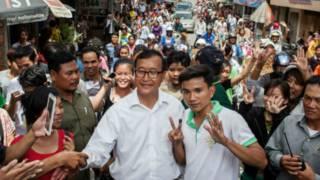 Sam Rainsy vận động tranh cử