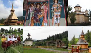 Iglesias y feligreses en Rumania