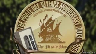 Logo de la fiesta de aniversario del portal The Pirate Bay