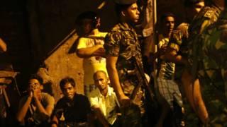 हमले के बाद मस्जिद के पास तैनात सुरक्षा बल