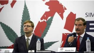expresidente de México Vicente Fox y exejecutivo de Microsoft  Jamen Shively en foro sobre drogas en Guanajuato