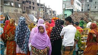حطام مصنع رنا بلازا الذي انهار في بنغلاديش