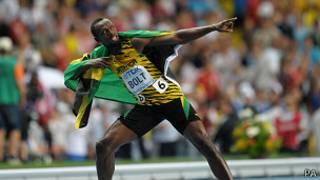 بولت بطل العالم لسباق المئة متر