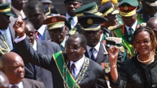 Роберт Мугабе и жена