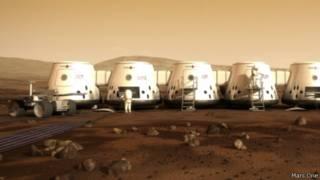 Colônia do projeto 'Mars One' | Ilustração: divulgação