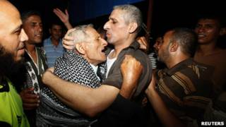 سجناء فلسطينيون مفرج عنهم