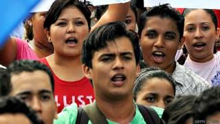 Protesta de estudiantes universitarios en Nicaragua