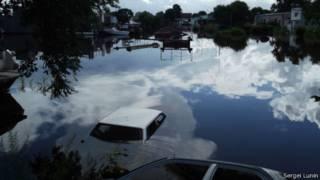 Затонувшие машины в Благовещенске