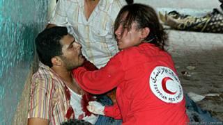 Salma Bahgat, voluntaria de la Media Luna Roja en Egipto