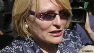 Helen Zille, la chef de DA, le principal parti d'opposition en Afrique du Sud.