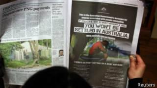 An advert on Australia asylum policy