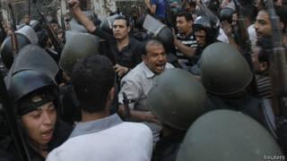 Đụng độ giữa cảnh sát và người biểu tình