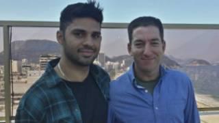 David Miranda y Glen Greenwald
