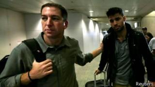 Glenn Greenwald and David Miranda   Foto: Reuters