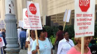 Акция протеста в Детройте