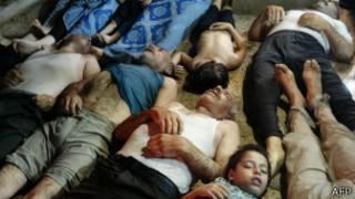 सिरियामा रासायनिक अस्त्र हमला