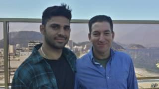 David Miranda e Glenn Greenwald