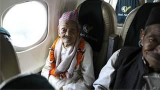 Bote Rai durante voo (AFP)