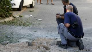 مكان التفجير بالقرب من مدينة نهاريا في إسرائيل