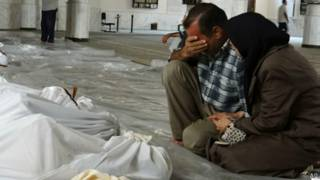 Nạn nhân vụ tấn công bằ̉ng khí độc ở Syria