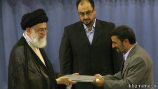 احمدی نژاد و خامنه ای