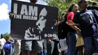Passeata em Washington celebra 50 anos de discurso de Martin Luther King (AFP)