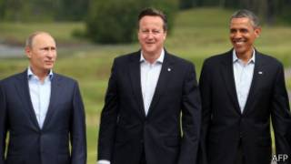 اوباما، کامرون و پوتین