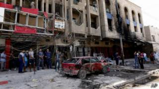 عقب انفجار في بغداد