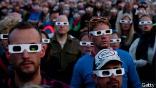люди в очках 3D
