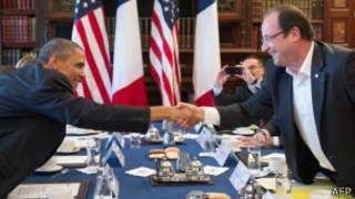 اولاند و اوباما