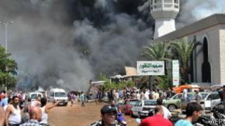 Взрыв в Триполи