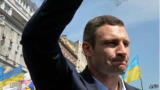 Виталий Кличко на митинге в Киеве 18 мая 2013 года